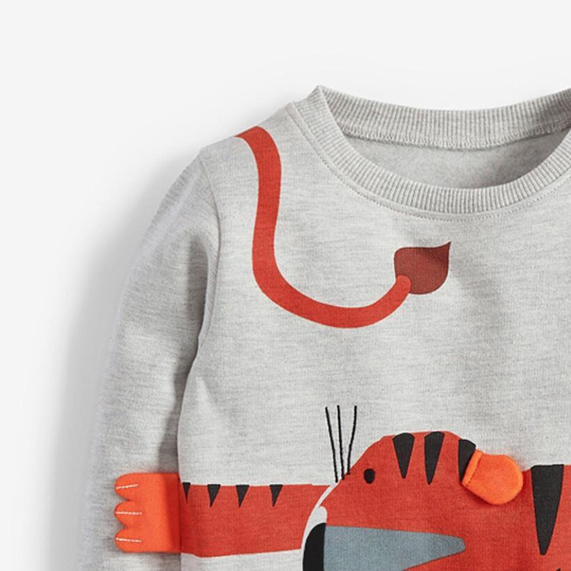 Little Maven 2021 Autumn Boy Brand Clothes Children Hoodies & Sweatshirts Boy Cotton Sweater Animal Print Kids Sweatshirts 51775 5