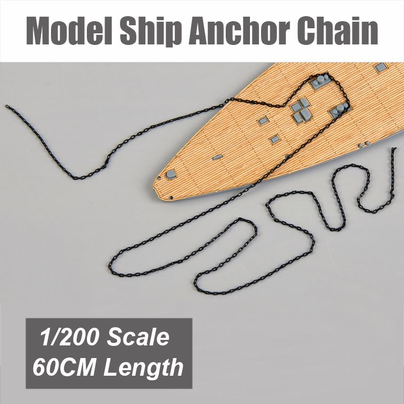 1:200 Battleship Aircraft Carrier Model Ship Destroyer Special Anchor Chain  60cm DIY Accessory Fits For 1:200 Scale Ship Model