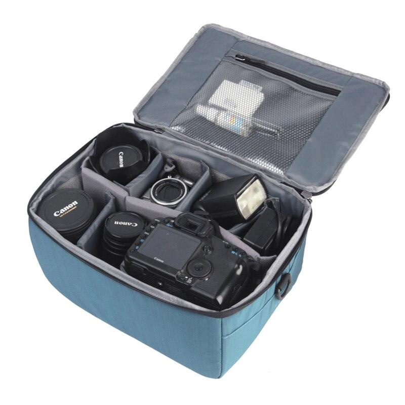Roadfisher grand appareil photo étanche protéger sac de transport insérer séparateurs de séparation organisateur pour Canon Nikon Sony Pentax objectif DSLR