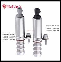 2pcs/lot Intake & Exhaust Oil Control Timing Valve Solenoid VVT 12655420  12655421 For Buick Chevrolet GMC Pontiac SATURN SAAB|Valves & Parts| |  -
