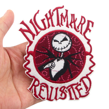K1088 Nightmare Sticker for Clothing Applications Patches on Clothes Iron Embroidered Patch for Backpack zotoone iron on cute alien patches for clothing t shirt cool badges embroidered diy cool patch sew stripe on clothes applique g