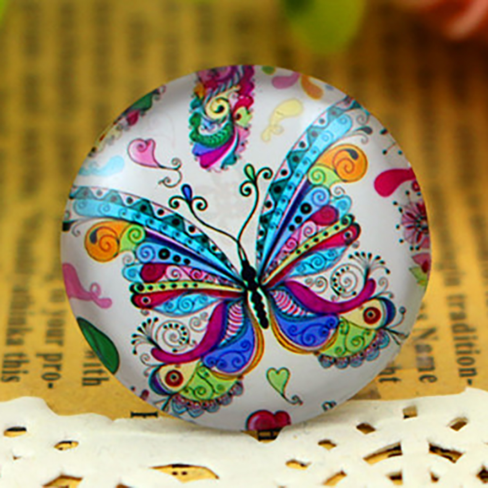 New Fashion  5pcs/Lot 25mm Handmade Photo Glass Cabochons  F3-05