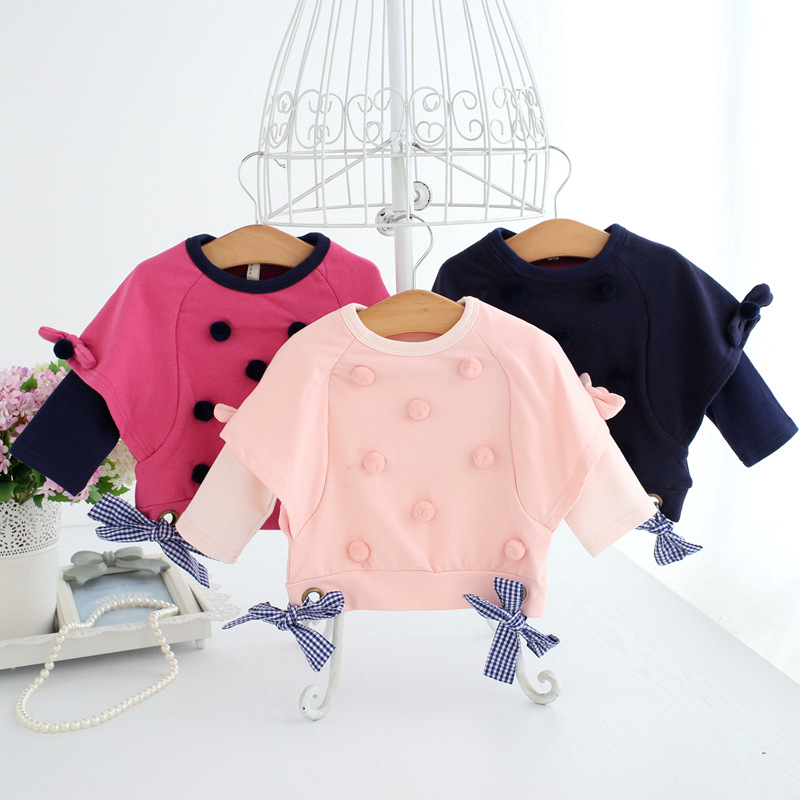 Idea Fish Brand Childrenswear Girls Autumn Korean-style Hot Selling Sweet Ball Coat 392