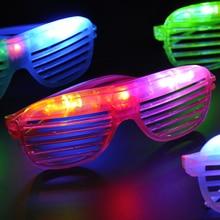 Случайный цвет Хэллоуин Рождество Горячая мигающие светящиеся игрушечные очки Детский Забавный светодиодный головной убор игрушки