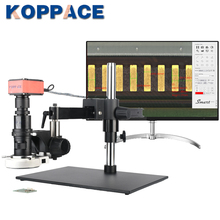KOPPACE 20X-200X 4K HD Measuring Electron Microscope Cross arm Bracket can take Pictures Video to Save Form Measuring Data