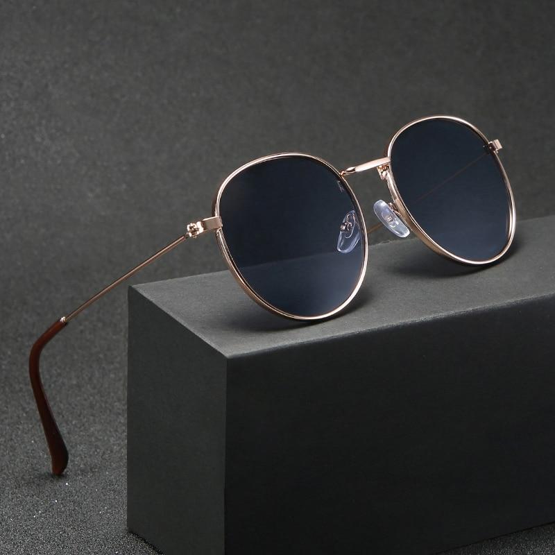 Higodoy Retro Round Sunglasses For Women Classic Vintage Metal Sun Glasses Goggle Uv Protect Sunglass Men Brand Designer 2019
