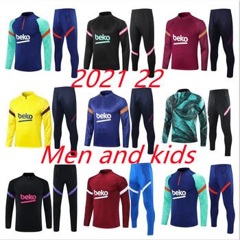 2021 2022 mężczyźni + dzieci Barcelonaes strój treningowy 20 21 22 piłka nożna dres survetement stóp chandal futbol sportowej jogging tanie i dobre opinie CN (pochodzenie) POLIESTER SPORTS Cztery pory roku
