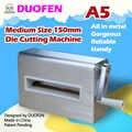 Duofen morrer máquina de corte a5 150mm 6 polegada corte dados gravação tecido de couro corte para diy álbum papel scrapbook 2019 novo