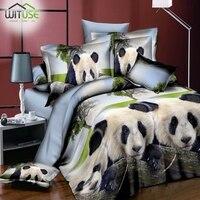 3D Bedding Sets Lion Panda Printed 3Pcs Bedclothes Pillowcases Quilt Duvet Cover Queen Size Comforter Bedding Sets Home Textiles