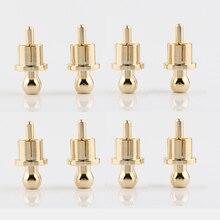 Enchufe de tapa RCA chapado en oro enchufe para circuito corto, conector fono RCA blindaje Jack Protect Cover Caps