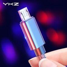 YKZ кабель Micro USB для быстрой зарядки, кабель для передачи данных usb для samsung, Xiaomi, huawei, Andriod, микро кабели для мобильных телефонов AG