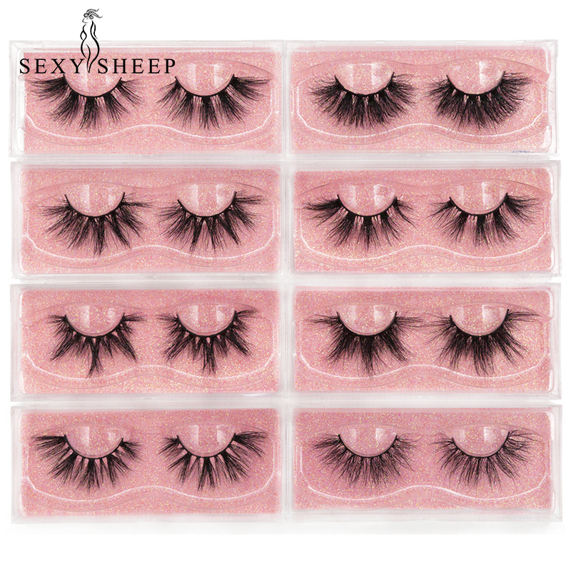 Mink Eyelashes 3D Mink 100% Cruel Eyelashes Handmade Natural Reusable Small Eyelashes False Eyelash Makeup