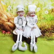 Dolls Pendant Drop-Ornaments Hanging-Decoration Couple Elf Christmas-Tree Plush Gifts
