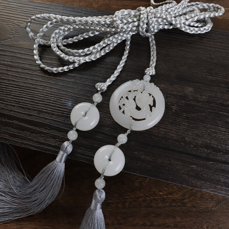 Lanyard Antique Style Jade Pendant Tassels Off Limits Chinese Clothing Hair Band Accessories Men And Women