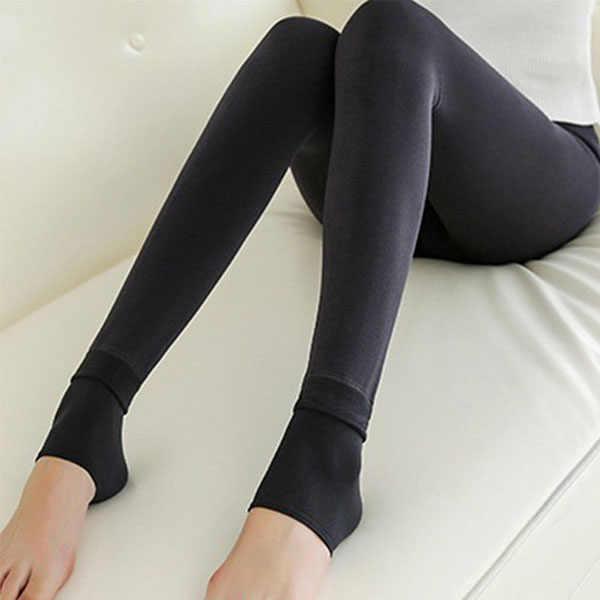 Productos de tendencias 2018 Leggings Mujer calor polar invierno Leggings elásticos sexy leggings calientes forro polar pantalones térmicos delgados