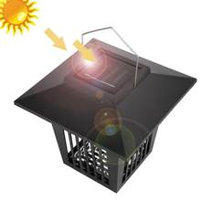 Solar Powered Waterproof Mosquito Repellent Killer LED Lamp Outdoor Light(China)
