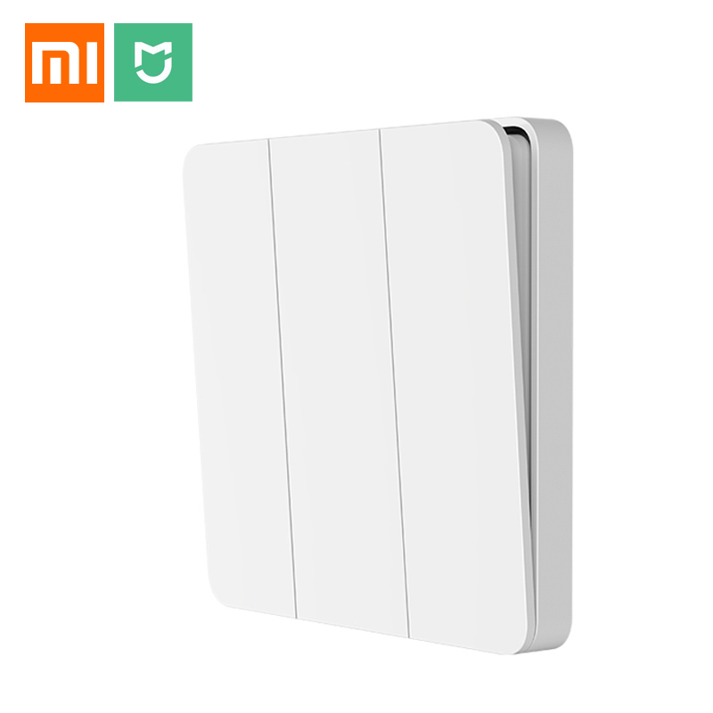 Xiaomi Mijia Wall Switch Single/Double/triple Open Dual Control Switch 2 Modes Switch Over Intelligent Lamp Lights Switch