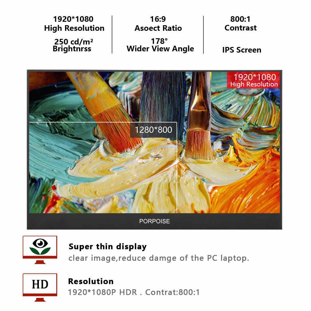 Multifunción conveniente 12,5 pulgadas IPS 178 ° HDMI pantalla portátil de alta definición 1080p monitorización extendida pantalla PS3/PS4/XBOX