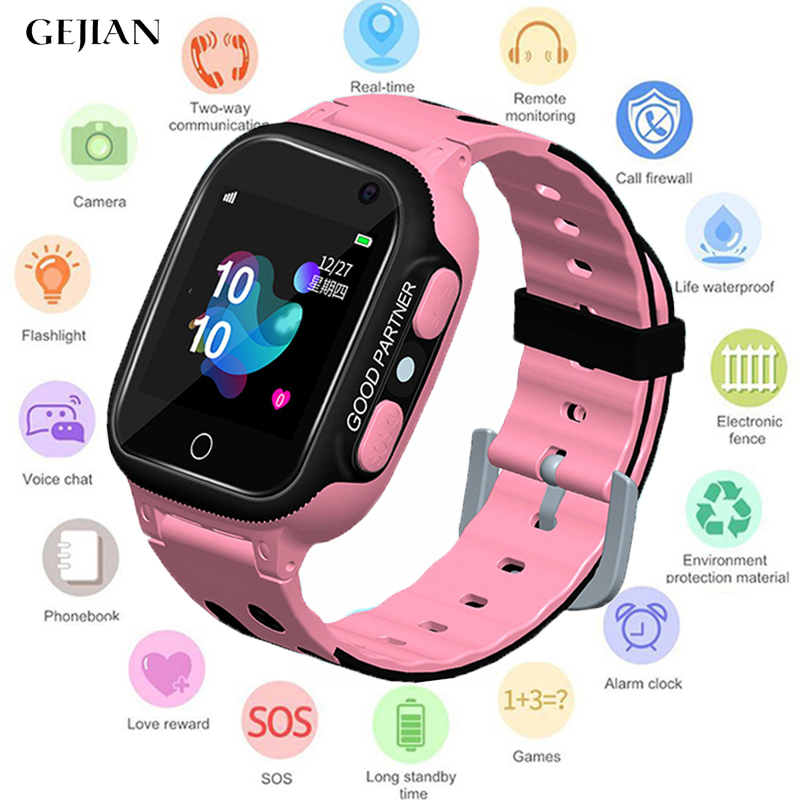 GEJIAN 2019 New Children's Watch Micro SIM Card Call Tracker Child Camera Anti-Lost Monitoring Positioning SOS Alarm Call Watch
