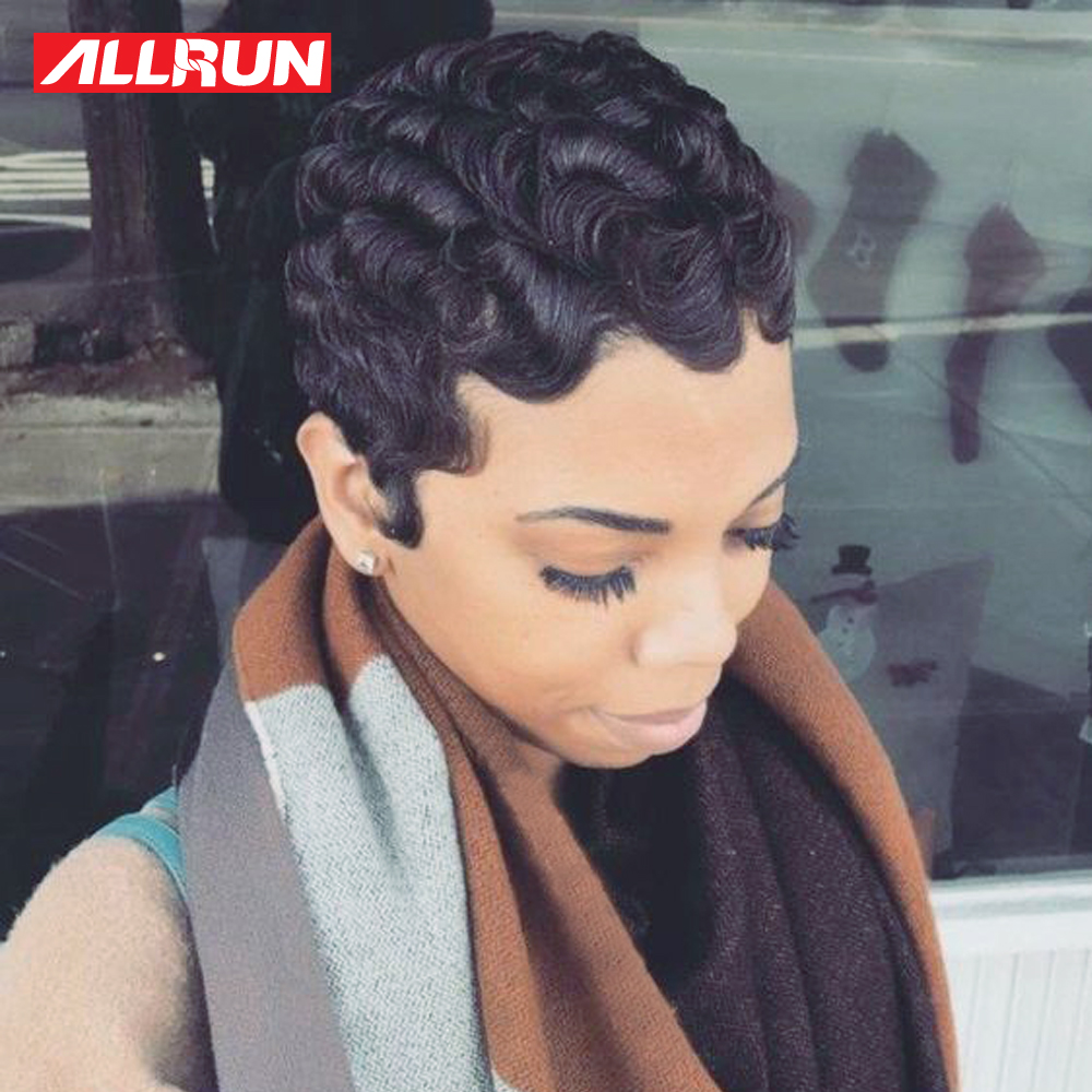 Short Human Hair Bob Wigs Malaysia Easy Finger Waves Human Hair Wigs Non Remy Hair Short Wigs Machine Made Lace Wig