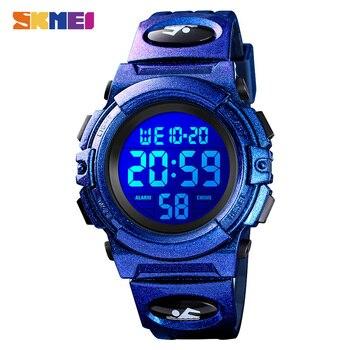 2020 SKMEI Top Brand Kids LED Digital Wristwatches Children Watch Calendar Luminous 5Bar Waterproof Sport Watches For Boys Girls