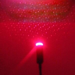 Image 2 - Umgebungs Licht Auto USB Universal Mini LED Auto Dach Sterne Nacht Projektor Licht Lampe Dekoration Dekorative Atmosphäre Lichter