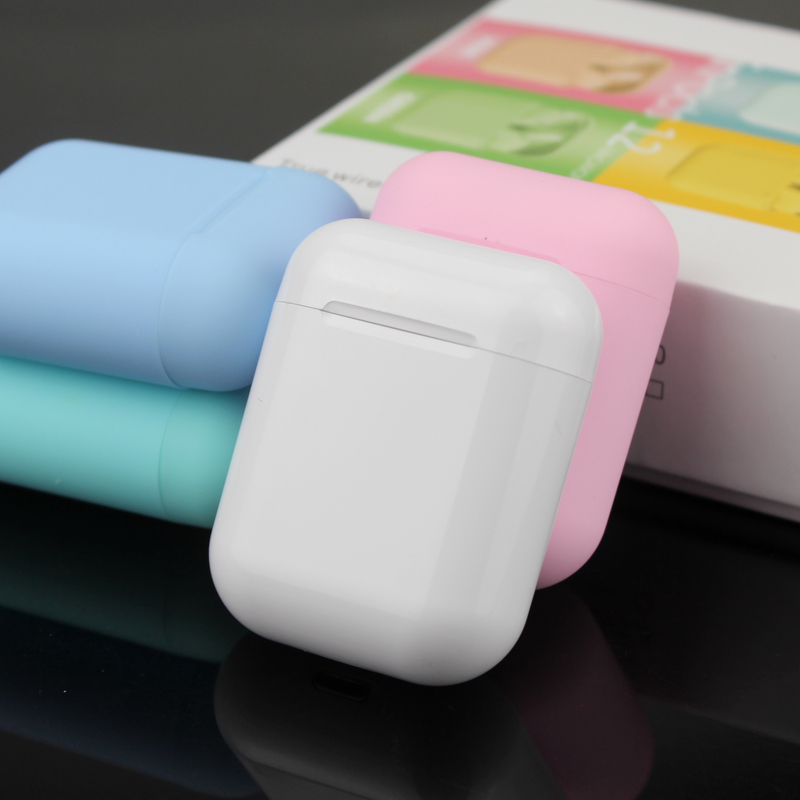 Wireless Headphone Bluetooth 5.0 <font><b>Original</b></font> Macaron <font><b>i12</b></font> <font><b>tws</b></font> in Earphone Touch Pop-up Stereo Headset Sport Earpiece For Smart Phone image