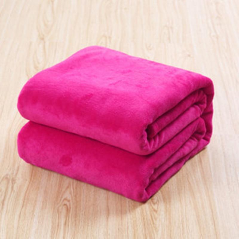 50*70cm Baby Coral Fleece Blanket Infant Thicken Warm Plush Quilt Newborn Flannel Autumn Winter Blanket Solid Color Blanket