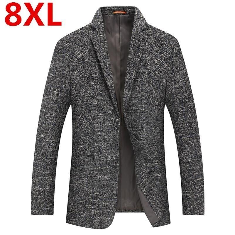 Plus Size 8XL 7X New Arrival Brand Clothing Jacket Spring Suit Jacket Men Blazer Fashion Slim Male Suits Casual Blazers Men