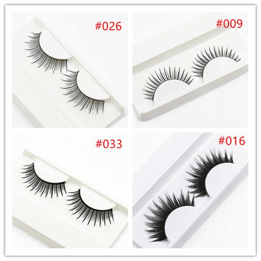 Fashion 1 Pasang 3D Bulu Rambut Bulu Mata Palsu Korea Alami/Tebal Panjang Mata Bulu Mata Tipis Seksi Makeup Kecantikan Ekstensi alat FH019