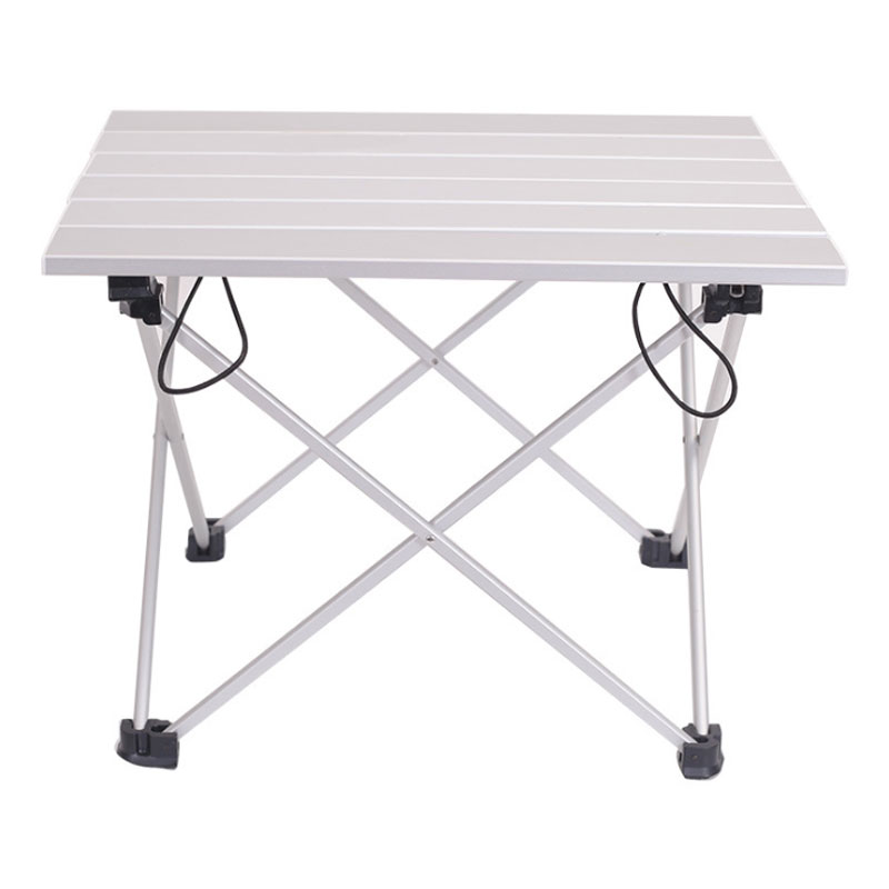 Portable Aluminum Folding Table Outdoor Dinner Hiking Camping BBQ Traveling Desk Alloy Ultra-light Table Blue Pink Gray Small
