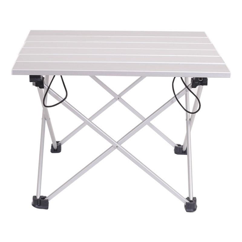 Портативный алюминиевый складной стол, маленький ульсветильник стол из сплава, для ужина, Походов, Кемпинга, барбекю, путешествий, синий роз...
