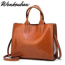 Grands sacs à Main en cuir pour femmes, sacs à poignée supérieure, fourre tout Fashion, sacoche à bandoulière Vintage noir pour dames