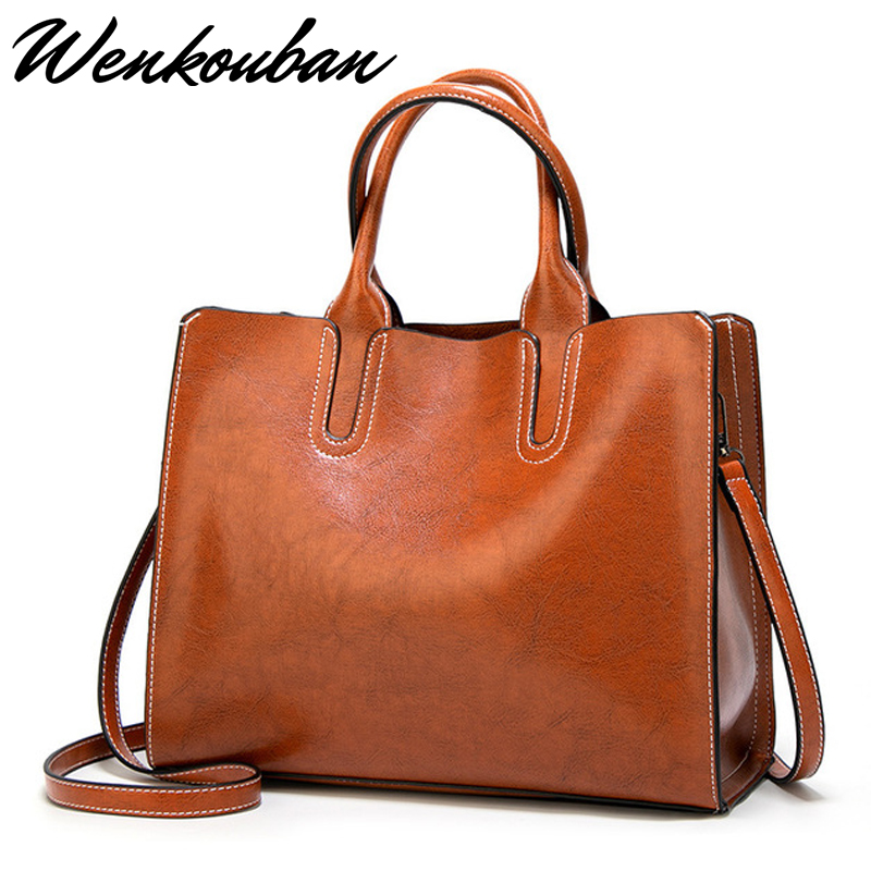 Top-poignée sacs en cuir fourre-tout femmes sacs à Main mode grande épaule Sac à bandoulière Vintage dames noir Sac à Main Femme