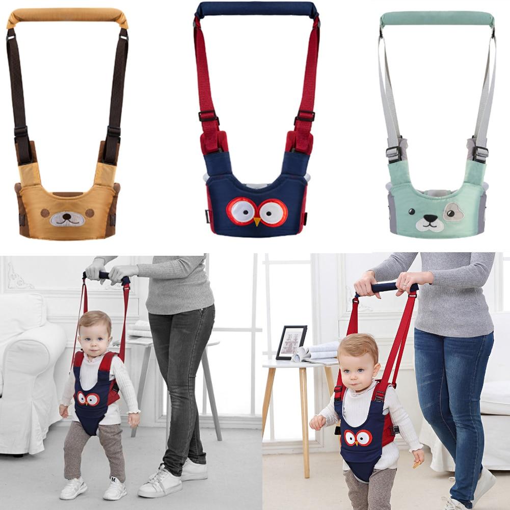 Baby Walker Harness Handheld Assistant Leash Toddler Walker Helper Kid Safe Protective Belt Child Learning Walking Safety Reins