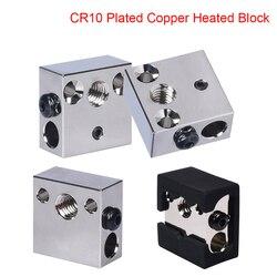 Wysokiej jakości blok grzewczy CR10 platerowana miedź dla CR10 Hotend Mk8 dysza części drukarki 3D BMG wytłaczarka Ender3/3 s CR10s drukarka 3D
