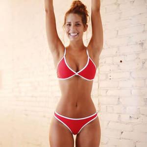 Women Swimwear Bikini-Set Bathing-Suit Sexy Padded-Bra Beachwear Beach-Clothes-Set Push-Up