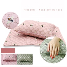 Foldable Hand Cushion Pillow Case Set Holder Soft PU Leather Sponge Arm Rest Nail Pillow Manicure Art Beauty Nail Mat Pad