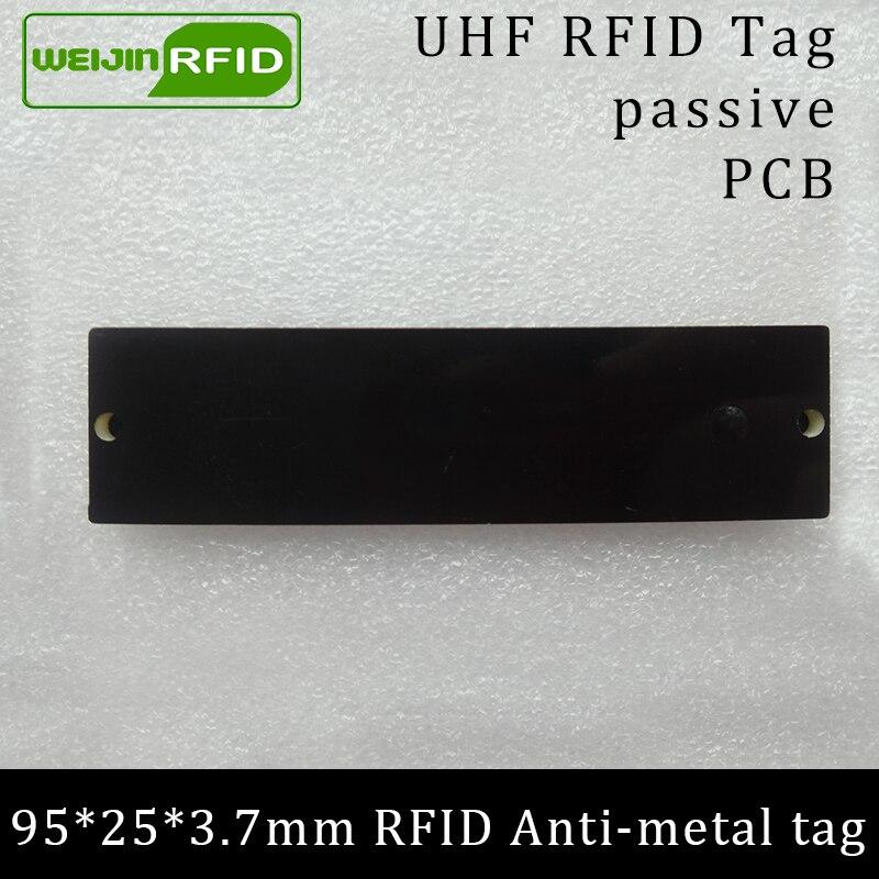 UHF RFID ანტი მეტალის ტეგა 915mhz 868mhz Alien Higgs3 EPCC1G2 6C 95 * 25 * 3.7mm სიგრძის კითხვის მანძილი PCB სმარტ ბარათის პასიური RFID ტეგები