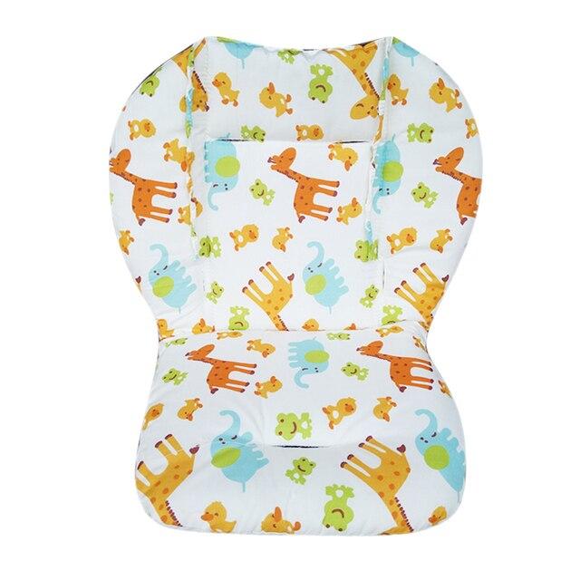 Almohadilla Universal para asiento de cochecito de bebé, cojín para asiento de silla alta, almohadilla de forro de algodón suave para la alimentación, funda protectora para silla