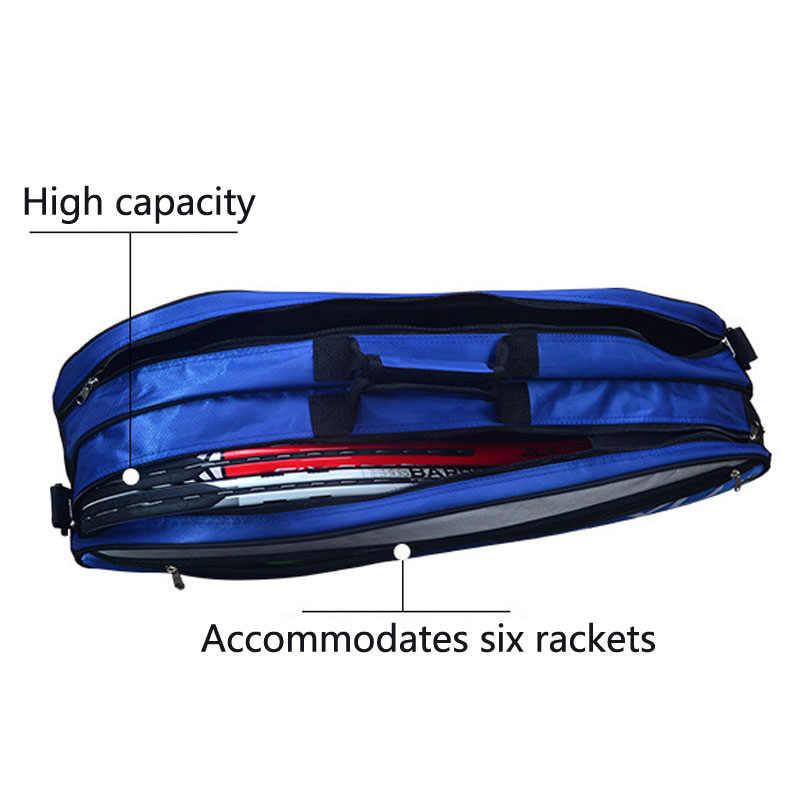 6-9 schläger Badminton Tasche Tennis Rucksack Sport Training Sport Tasche Raquete Taschen Männer Und Frauen Squash Schläger Tasche mit Schuh Tasche