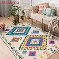 Современные коврики абстрактный геометрический художественный ковер для гостиной Детская спальня Противоскользящий коврик модный кухонн...