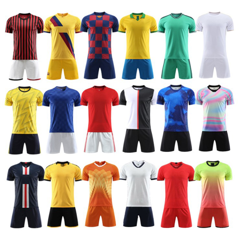 18/19/20 Blank Male Soccer T-Shirt, Children Sport Club Jersey Shorts, Athletes Football Clothes, Custom Futbol Training Uniform