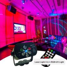 2020 yeni Mini lazer Disko ışık 3 In 1 RGB UV lamba sihirli top Disko Dj parti sahne aydınlatma 6 delik noel cadılar bayramı için Bar