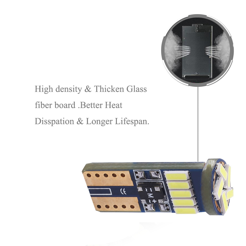 BOAOSI 2x T10 LED W5W Samsung 4014 Auto kentekenverlichting Lampen - Autolichten - Foto 4