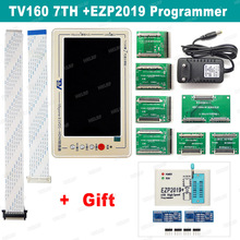 Tv160 7th testador de mainboard para tv, tela lcd, vbyone, lvds para hdmi, conversor + 7 adaptadores de painéis