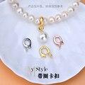 Ювелирные изделия из чистого тайского серебра 925 пробы «сделай сам», аксессуары для пуговиц, кольцо может открывать застежку, механическая ...