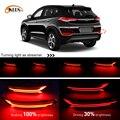 2 шт. для Hyundai Tucson 2015 2016 2017 2018 2019 2020  автомобильный Светодиодный отражатель  задний противотуманный фонарь  задний бампер  светильник  стоп-сиг...