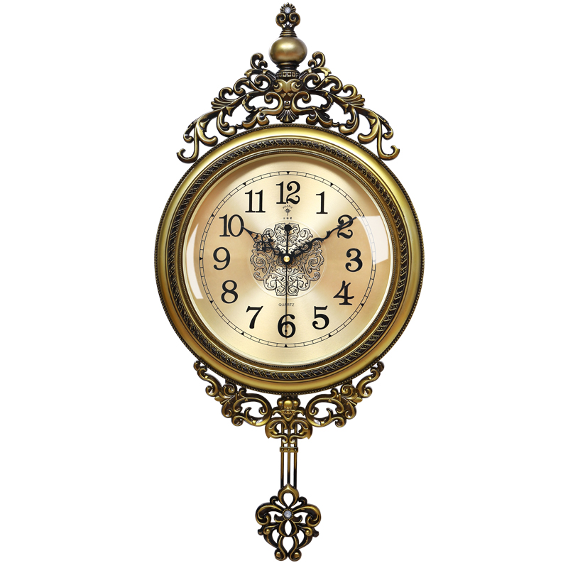 Large Luxury Wall Clock Retro Shabby Chic Living Room Silent Creative Swing Clocks Bedroom Gift Duvar Saati Home Decor FZ706