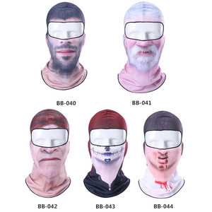 Image 5 - 3D Clown Beard Man Motorcycle Balaclava Full Face Mask Cover Helmet Liner Ski Paintball Snowboard Biker Riding Hood Men Women